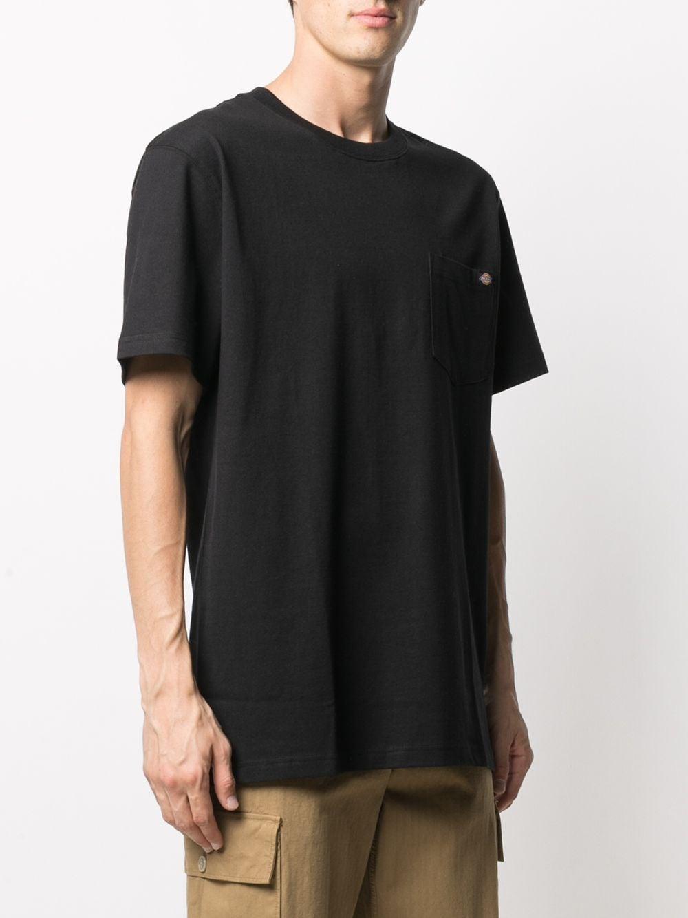 T-shirt con taschino uomo nero cotone DICKIES | T-shirt | DK0A4TMOBLK