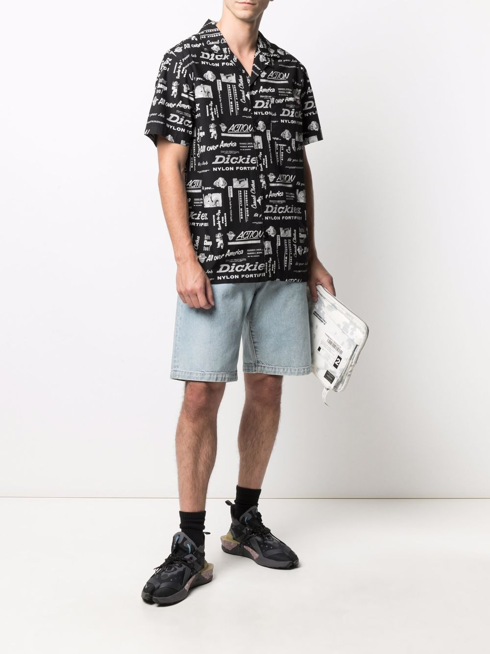 Printed shirt black man cotton DICKIES | Shirts | DK0A4XA6BLK