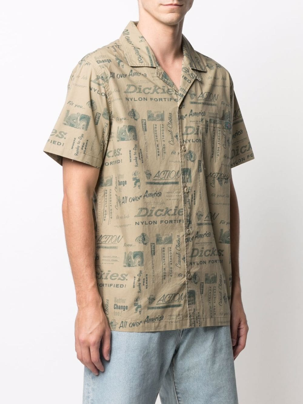 Printed shirt beige man cotton DICKIES | Shirts | DK0A4XA6KHK