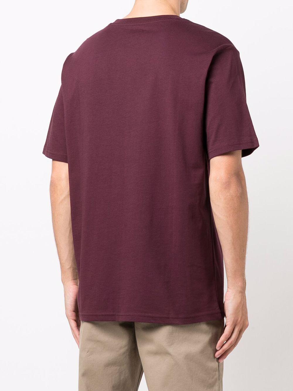 T-shirt con logo Bordeaux in Cotone Uomo DICKIES   T-shirt   DK0A4XDBMR01