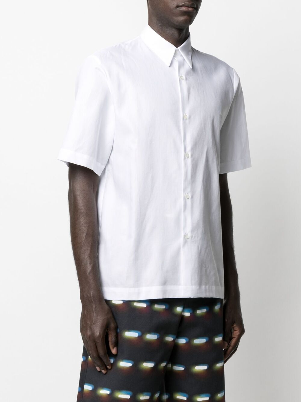 plain short sleeve shirt man white cotton DRIES VAN NOTEN | Shirts | CLASEN2051WHITE