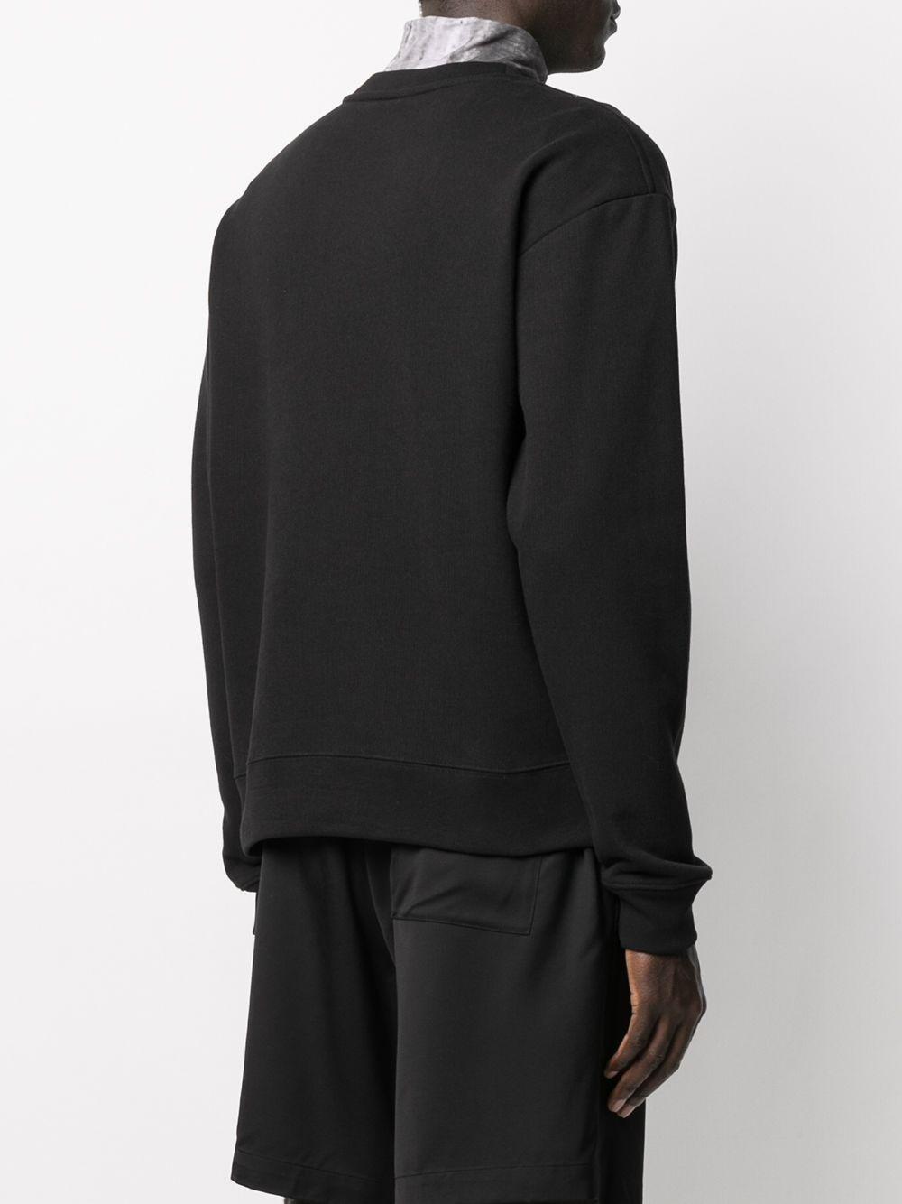 Pullover In Lana Merino Uomo Nero DRIES VAN NOTEN | Maglieria | HAF2613BLACK
