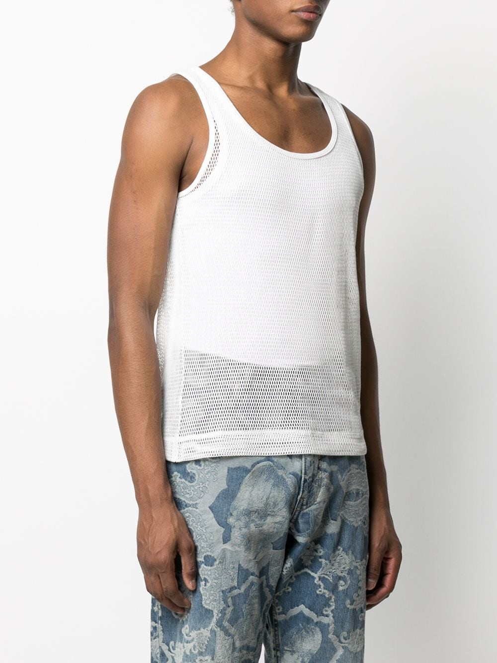 NET COTTON TANK TOP DRIES VAN NOTEN | T-shirts | HALK2616WHITE