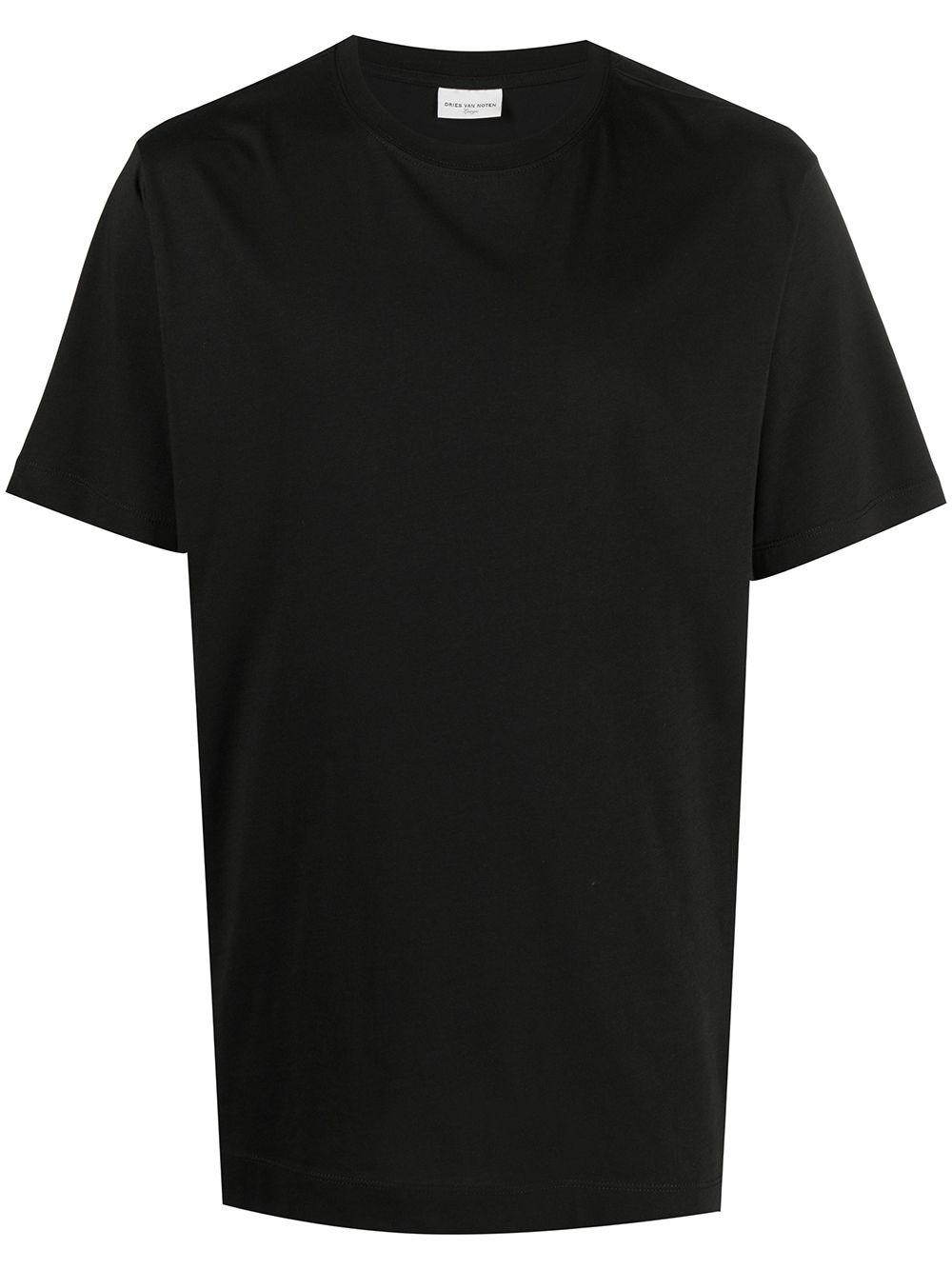 t-shirt heeb man black in cotton DRIES VAN NOTEN | T-shirts | HEEB2600BLACK