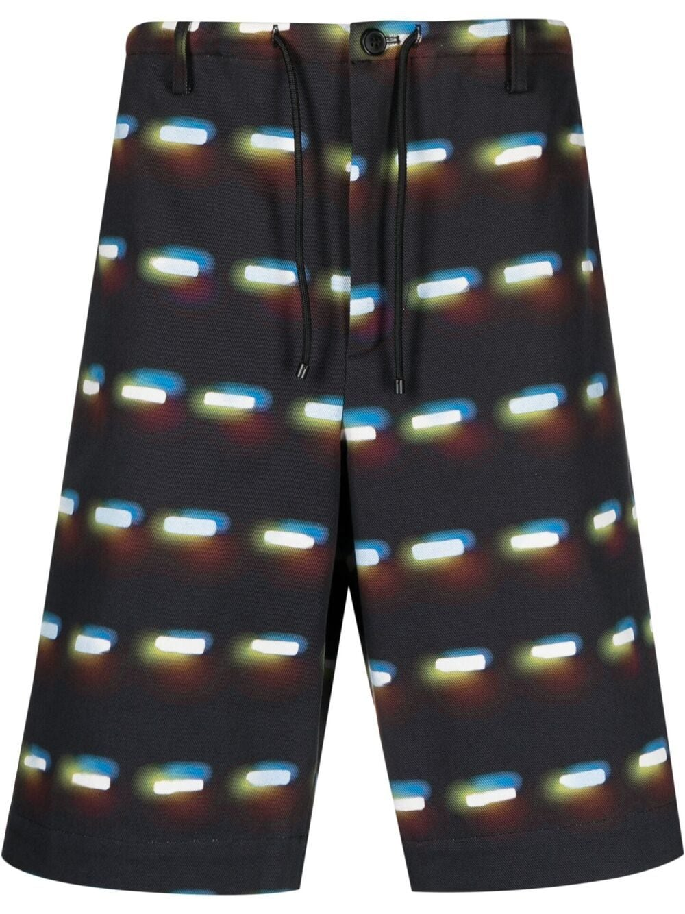 Dries Van Noten print shorts man black DRIES VAN NOTEN | Shorts | PENNY2024BLACK