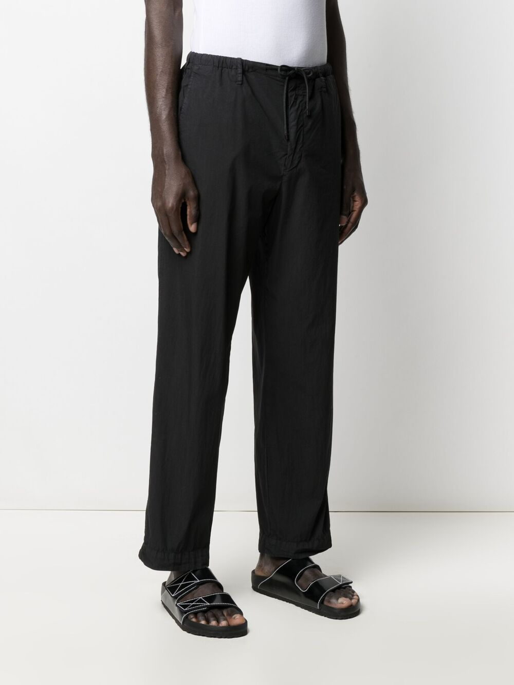 Dries Van Noten elasticated cropped trousers man black DRIES VAN NOTEN | Trousers | PENNY2279BLACK