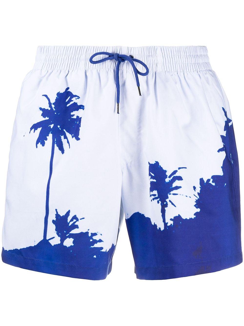 Printed swimwear white man DRIES VAN NOTEN | Swimwear | PHIBBS2237BLUE