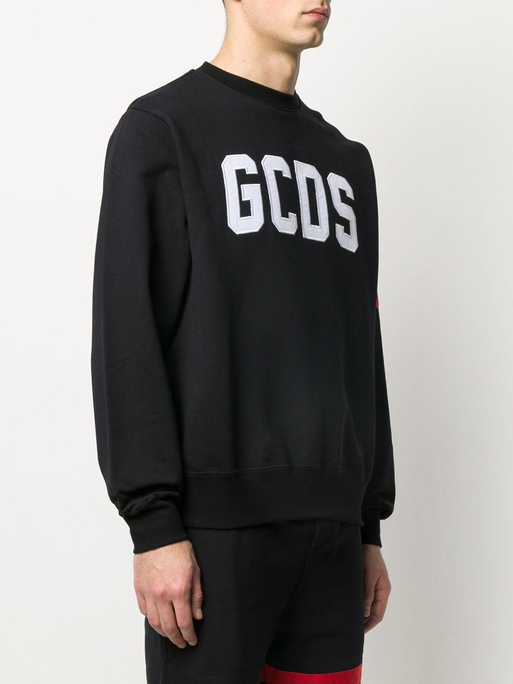 Gcds felpa a girocollo con logo uomo GCDS | Felpe | CC94M02100302