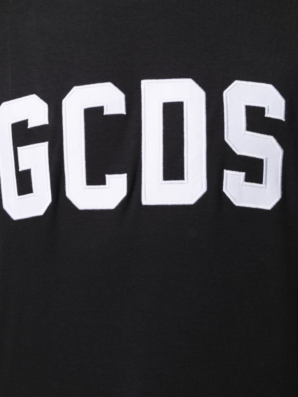 T-Shirt Logo Nera Uomo Cotone GCDS | T-shirt | CC94M02100402