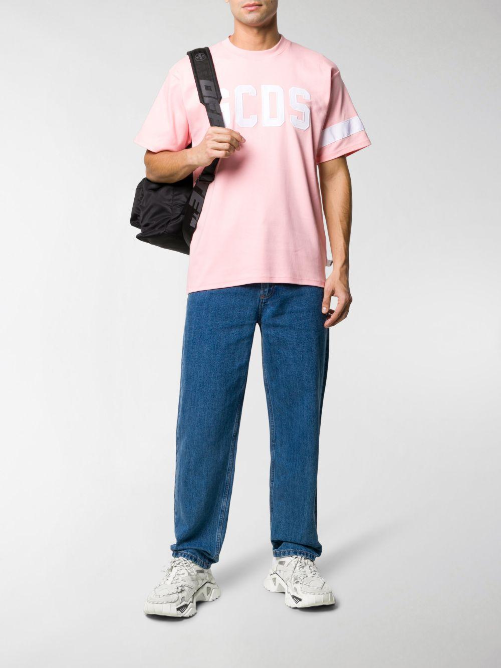 T-Shirt Logo Rosa Uomo Cotone GCDS | T-shirt | CC94M02100406