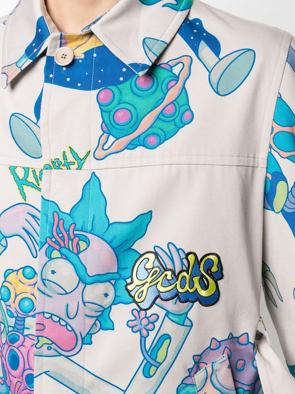 Trench Rick&Morty Uomo multicolor cotone GCDS | Cappotti | RM21M040500MX
