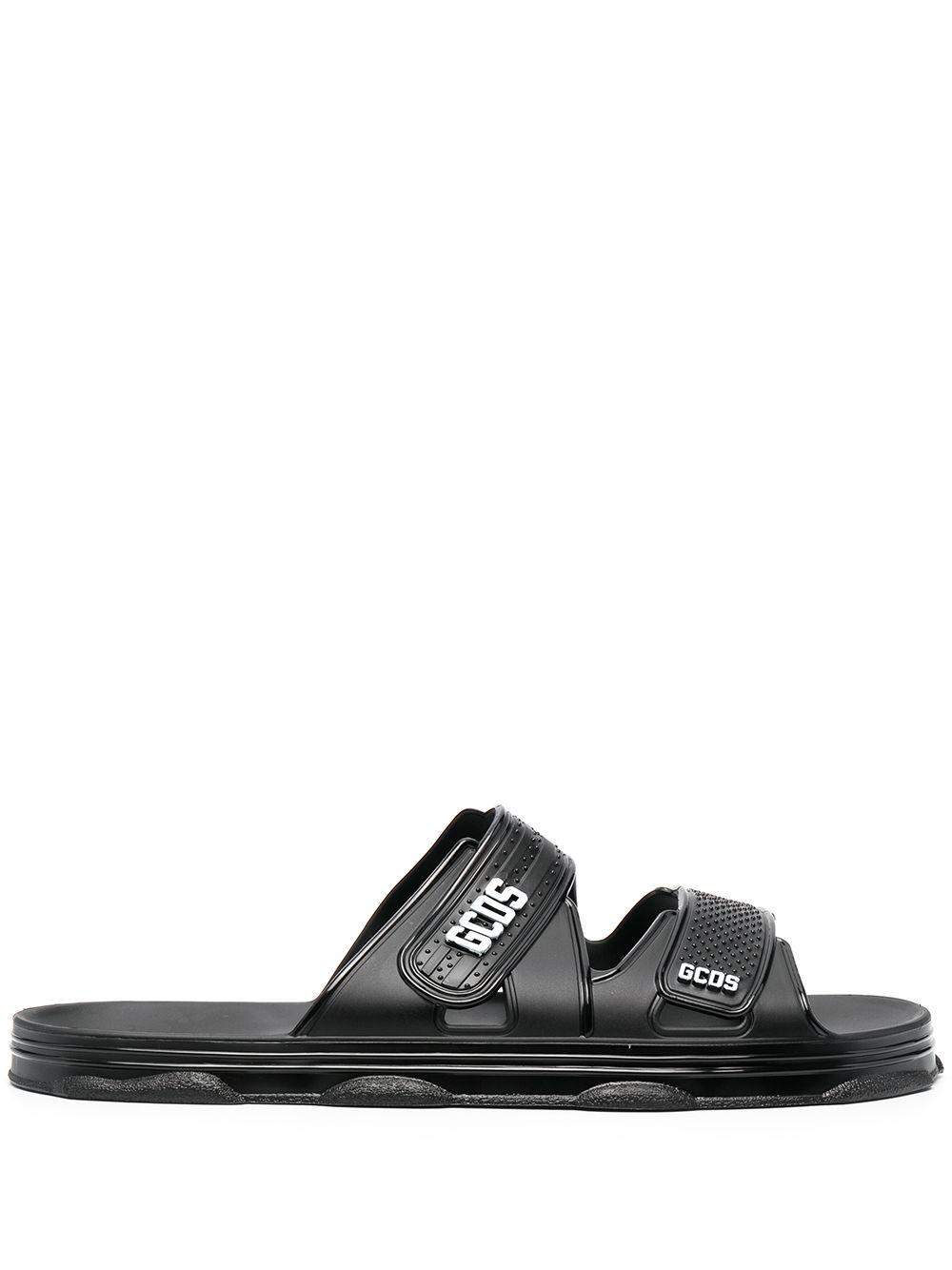 Logo sandals black man GCDS | Sandals | SS2101009902