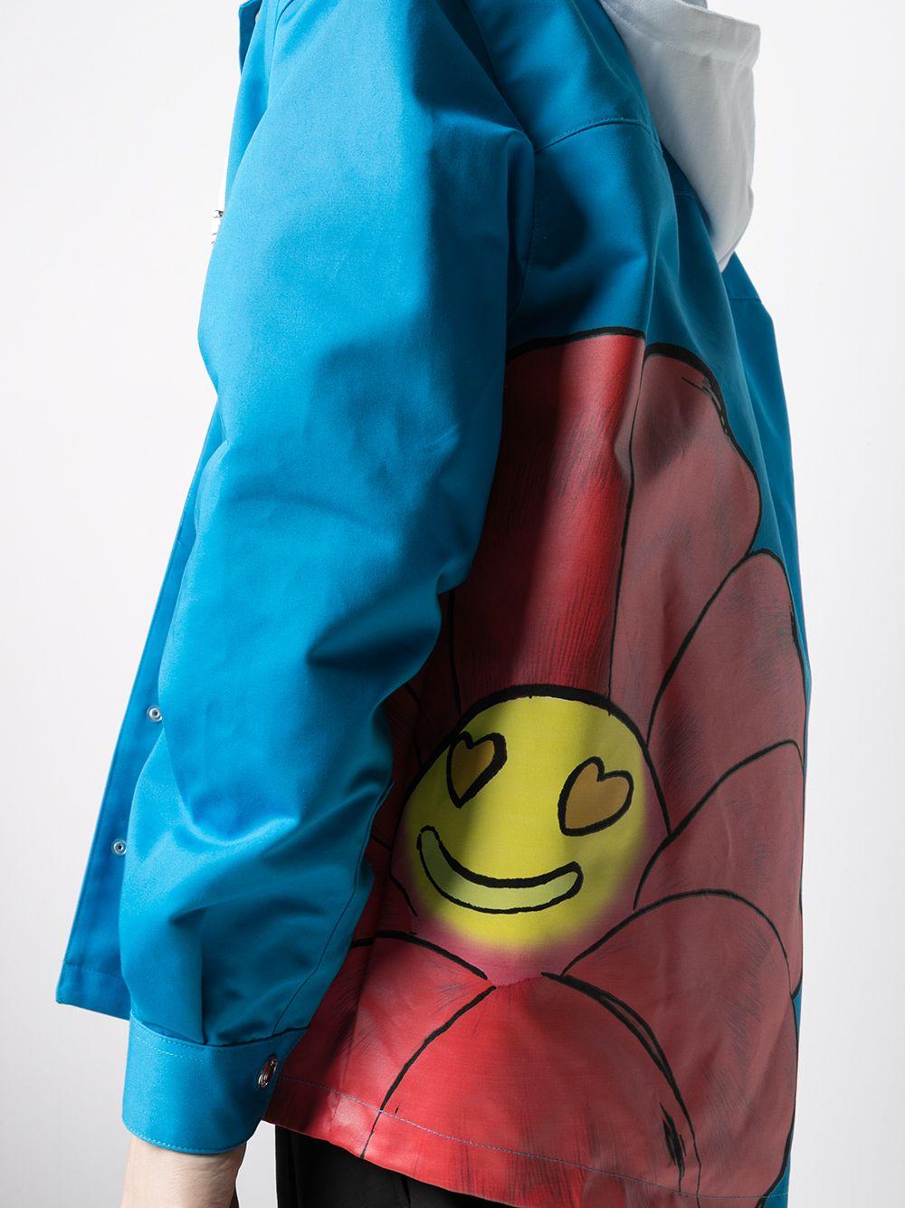 Giacca Con Stampa Azzurra Uomo Cotone GCDS | Giacche | SS21M04010758