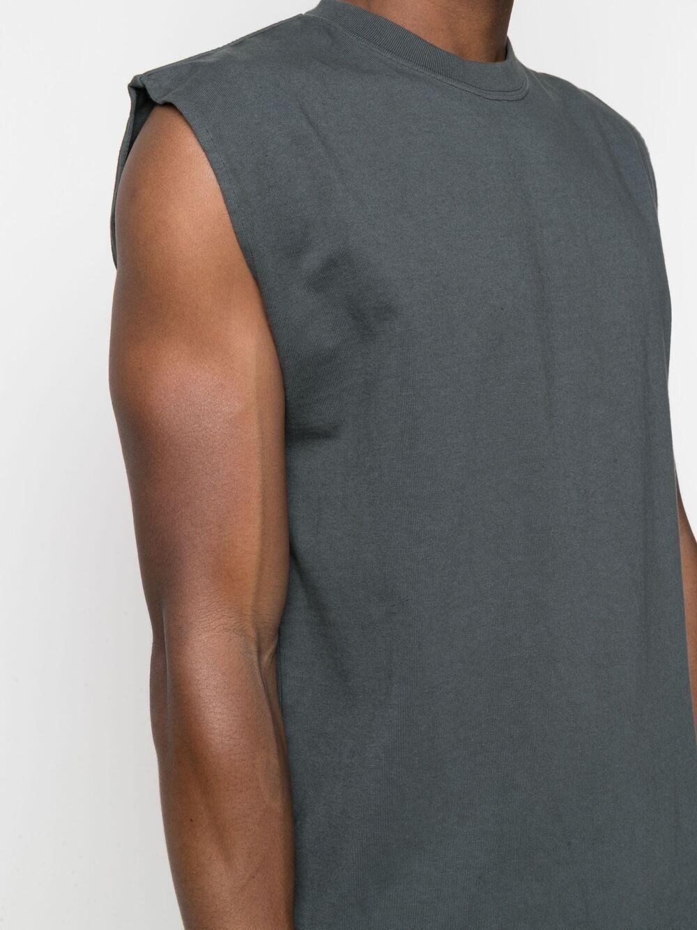Gr10k sleeveless top man anthracite grey GR10K | T-shirts | GR017ANTRACITE