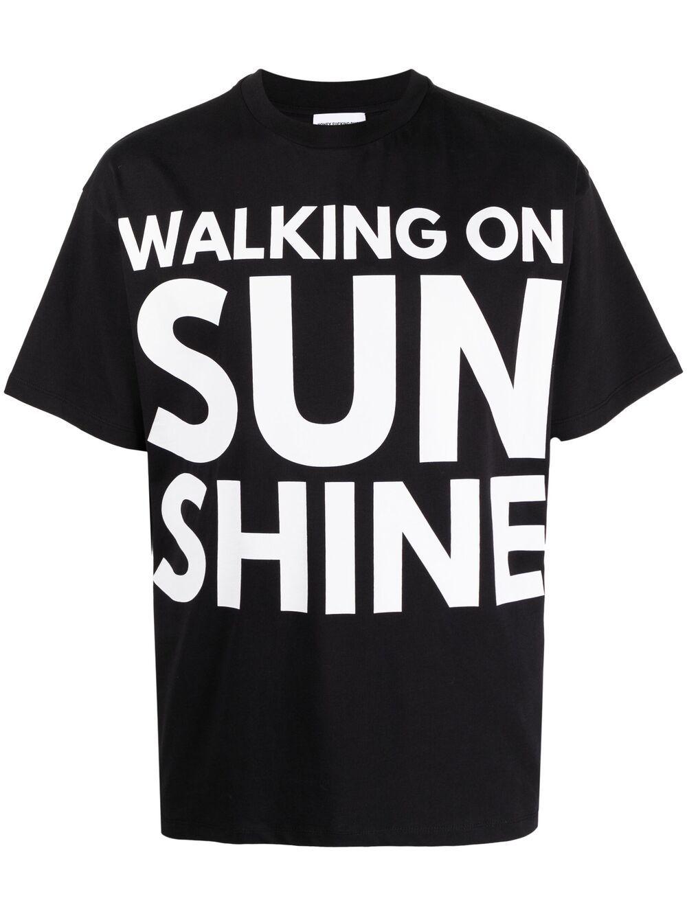 Honey Fucking Dijon print t-shirt man black HONEY FUCKING DIJON | T-shirts | HFD03T007BLACK
