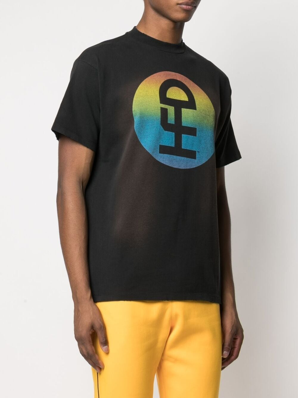 Honey Fucking Dijon print t-shirt man black HONEY FUCKING DIJON | T-shirts | HFD03T303BLACK/RAINBOW