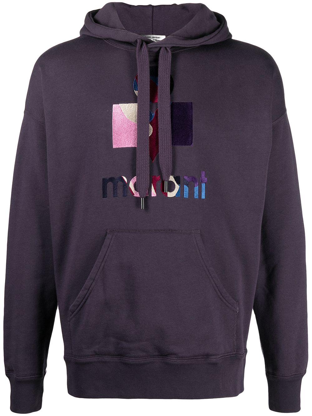Miley logo sweatshirt Black Man Cotton ISABEL MARANT | Sweatshirts | SW0055-21P030H30FN
