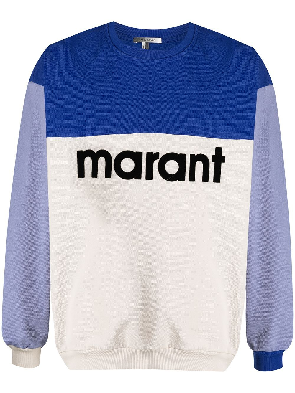 Isabel Marant felpa color-block uomo ISABEL MARANT | Felpe | SW0279-21P033H30BU