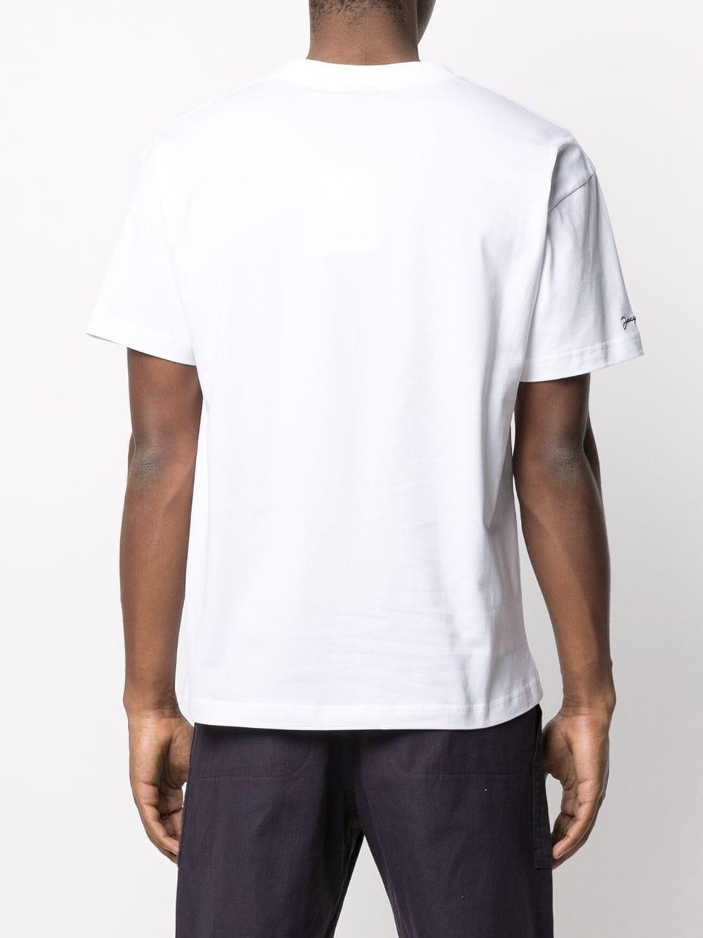 T-Shirt Con Stampa Bianca Uomo in Cotone JACQUEMUS | T-shirt | 215JS04WHITE