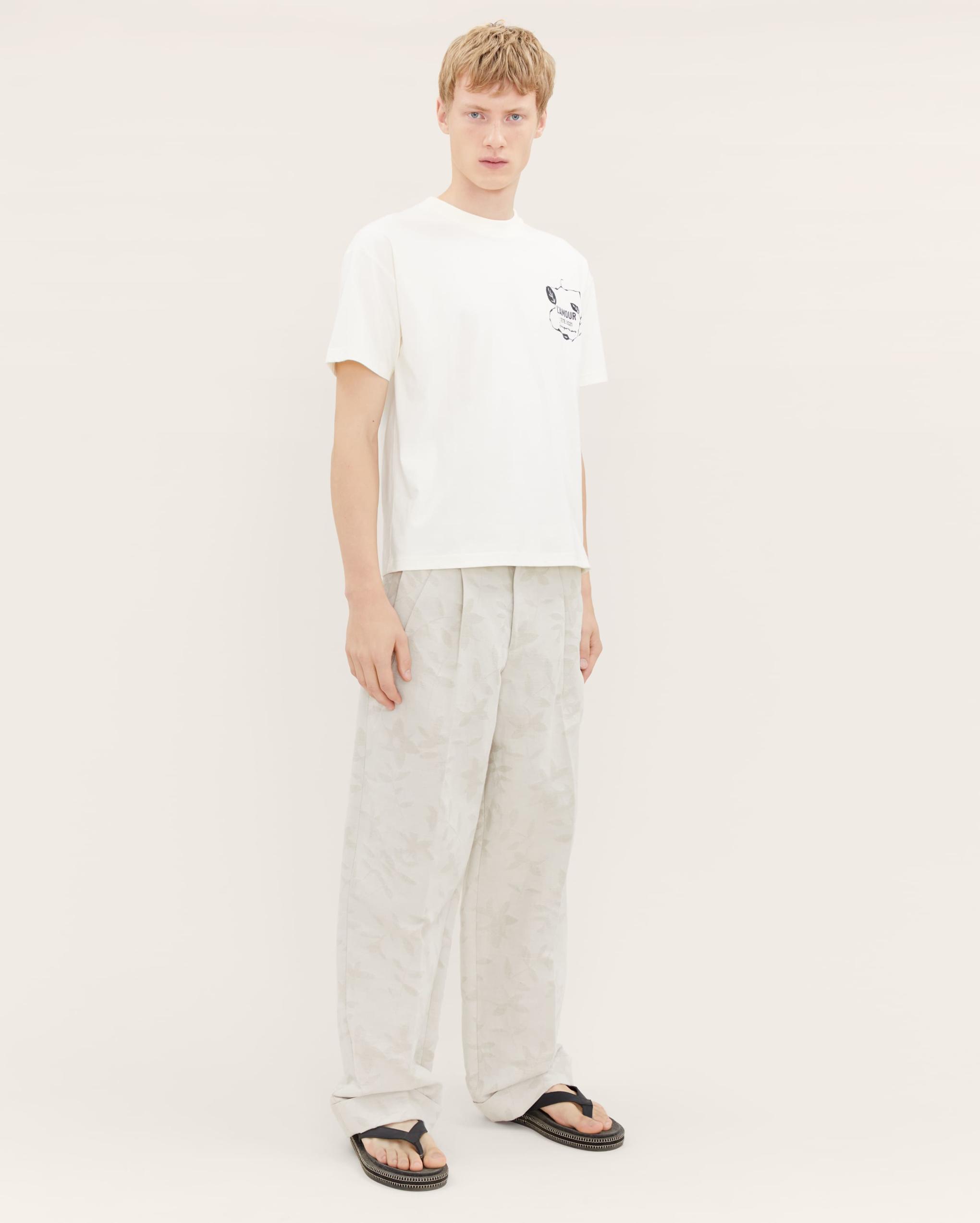 PRINT T-SHIRT JACQUEMUS   T-shirts   215JS15OFF WHITE