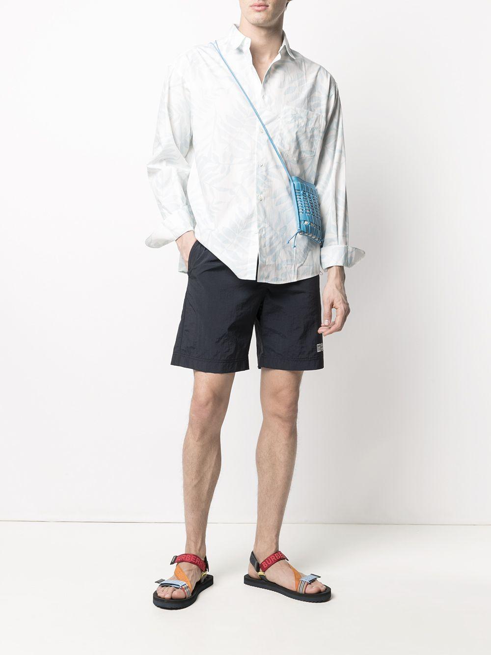 SANTON FOLIAGE PRINT SHIRT JACQUEMUS | Shirts | 215SH01PRINT BLUE LEAVES