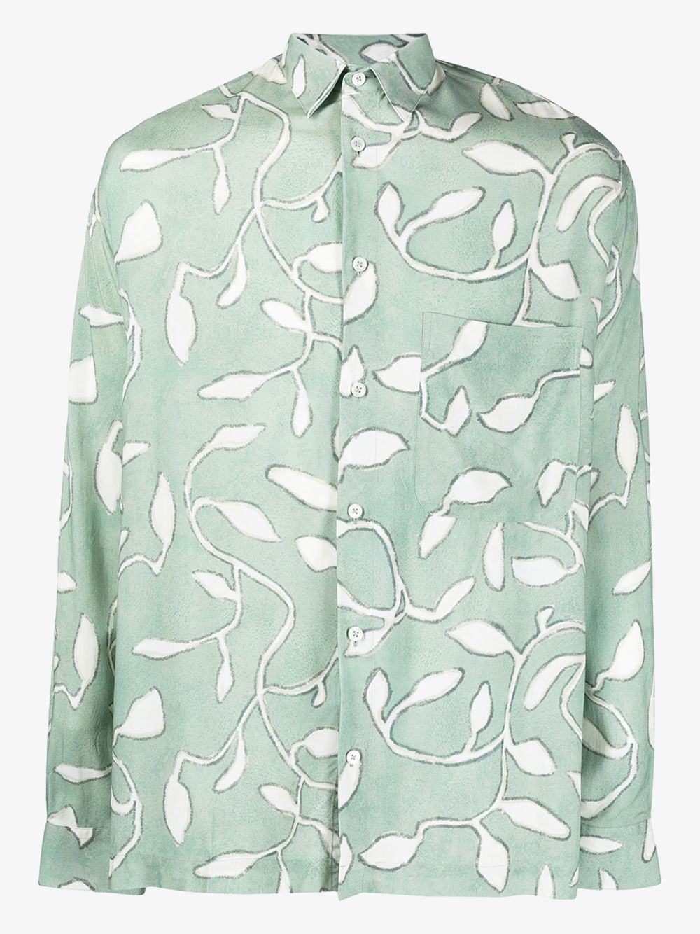 Baou leaf print shirt Green Man Viscose JACQUEMUS | Shirts | 215SH02PRINT GREEN LEAVES