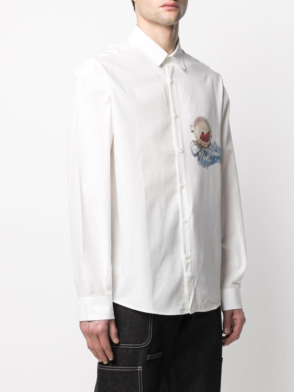 Camicia Henri Con Stampa Bianca Uomo in Cotone JACQUEMUS   Camicie   215SH03PRINT CHERRIES