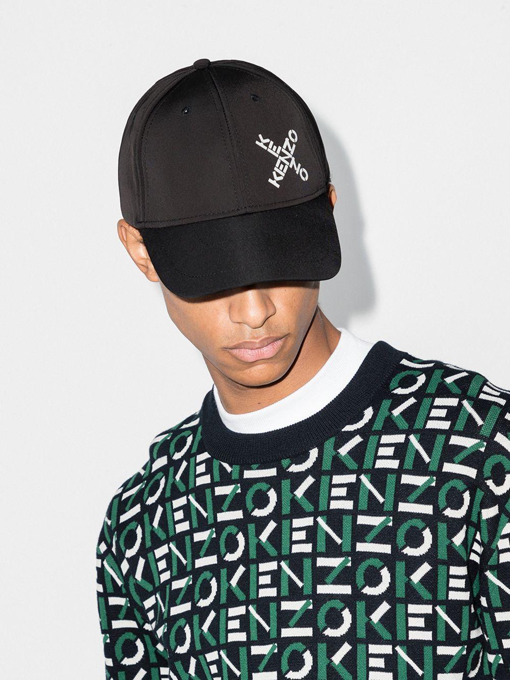 Kenzo cappello con logo uomo KENZO | Cappelli | FA65AC221F2199
