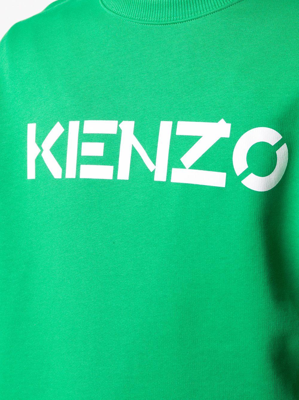 logo sweatshirt man green KENZO | Sweatshirts | FA65SW0004MD56