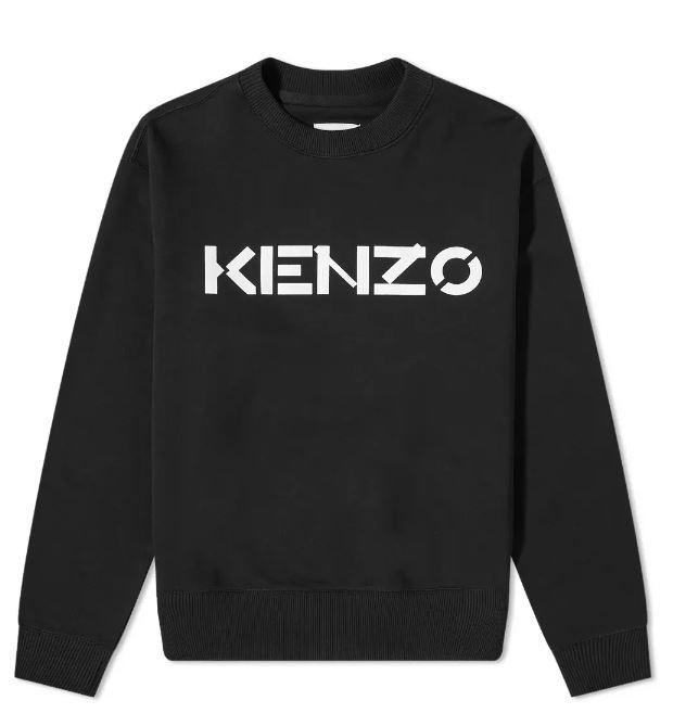 Felpa Con Logo Nera Uomo Cotone KENZO | Felpe | FA65SW0004MD99
