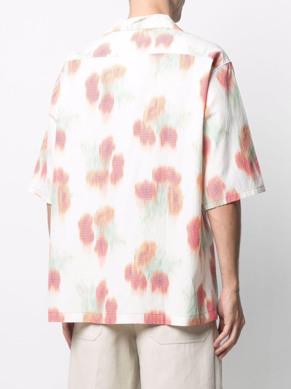 Abstract print shirt White Man KENZO   Shirts   FB55CH1409S419