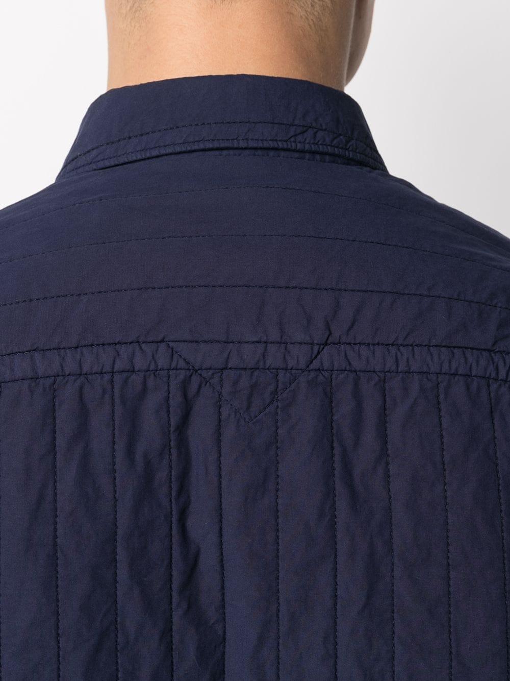cheetah quilted shirt man blue KENZO   Shirts   FB55CH4101LA76