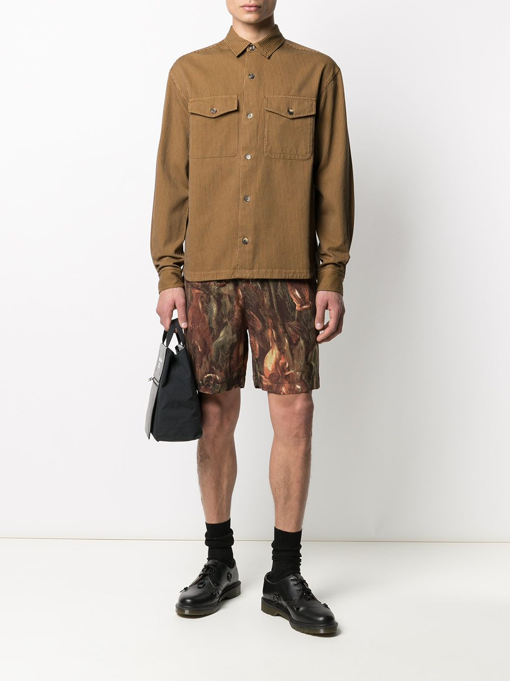 Kenzo camicia in velluto uomo KENZO | Camicie | FB55CH5009CF13