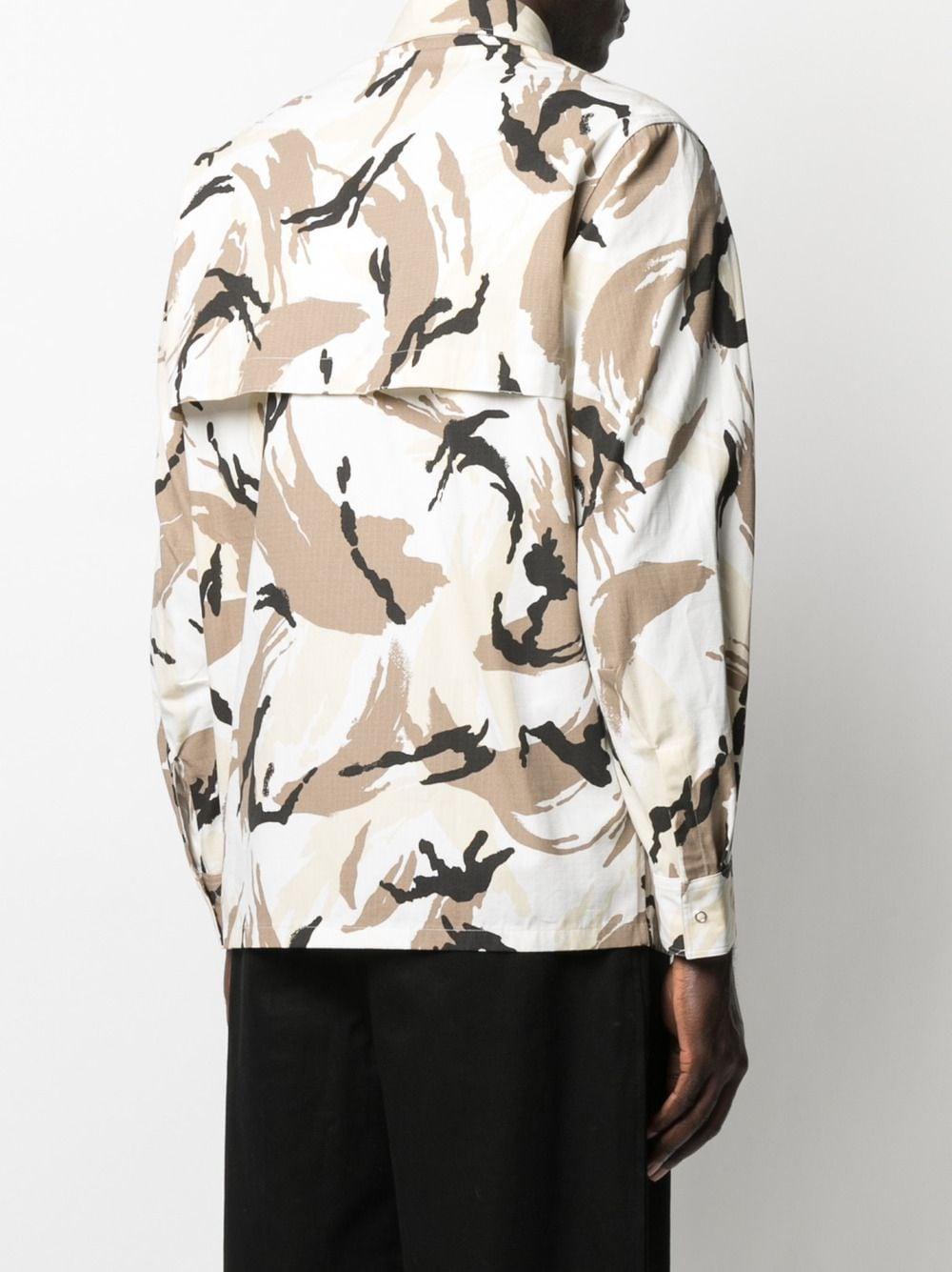 Kenzo camicia con stampa camouflage uomo KENZO | Camicie | FB55CH5021PC02