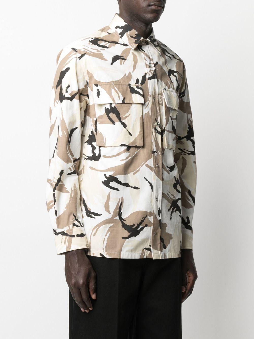 CAMOUFLAGE PRINT SHIRT KENZO | Shirts | FB55CH5021PC02