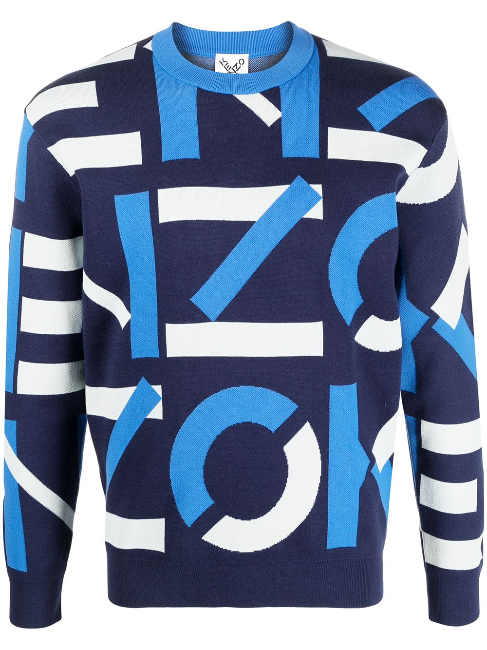 INTARSIA KNIT LOGO KENZO | Sweaters | FB55PU5313SC77