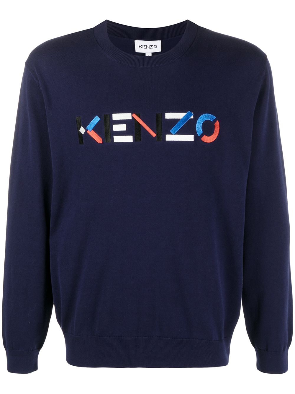 EMBROIDERED LOGO SWEATER KENZO | Sweaters | FB55PU5413LA76