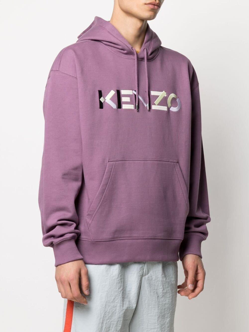 Kenzo logo sweatshirt Man Violet Cotton KENZO | Sweatshirts | FB55SW5394MO82
