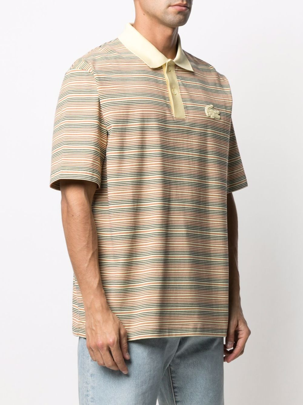 Lacoste striped polo man multicolor LACOSTE   Polo   DH1234LW2