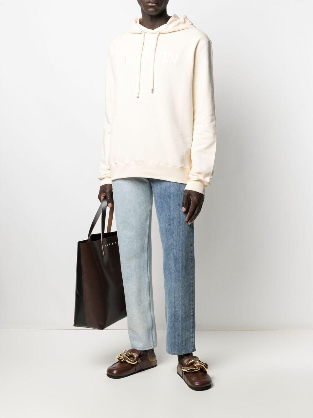 Lanvin embroidered logo sweatshirt man beige LANVIN   Sweatshirts   RM-HO0004-J008021