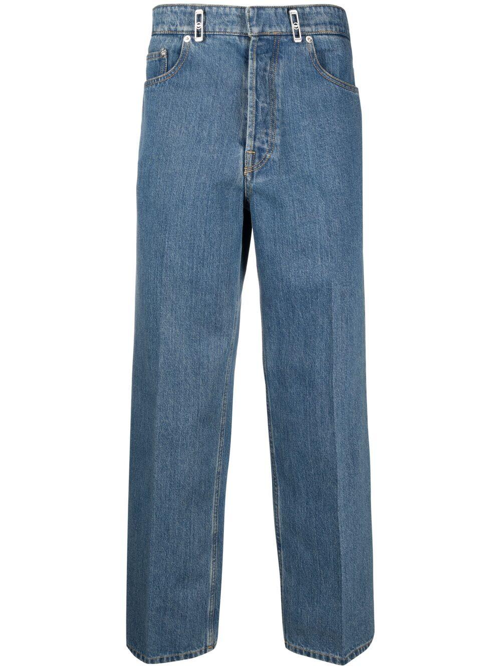 logo patch stright jeans man denim LANVIN   Jeans   RM-TR0007-D00222