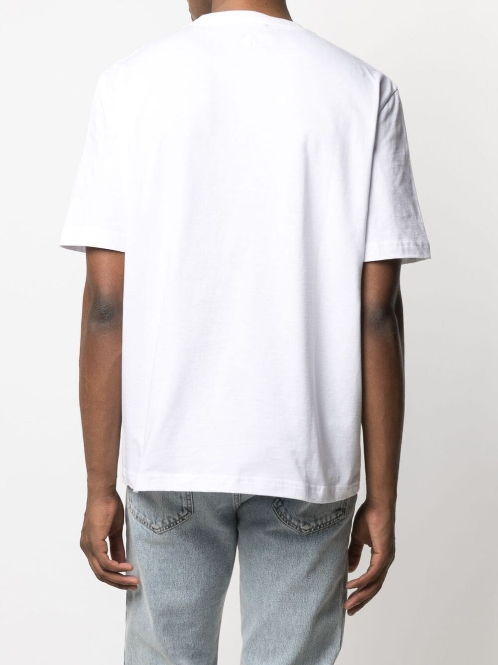 t-shirt con patch bocca uomo bianca in cotone LANVIN | T-shirt | RM-TS0002-J01501