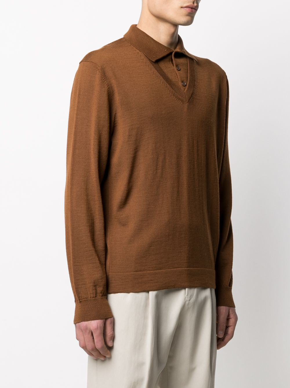 KNITTED V-NECK POLO SHIRT LEMAIRE | Sweaters | 211 KN309 LK087467