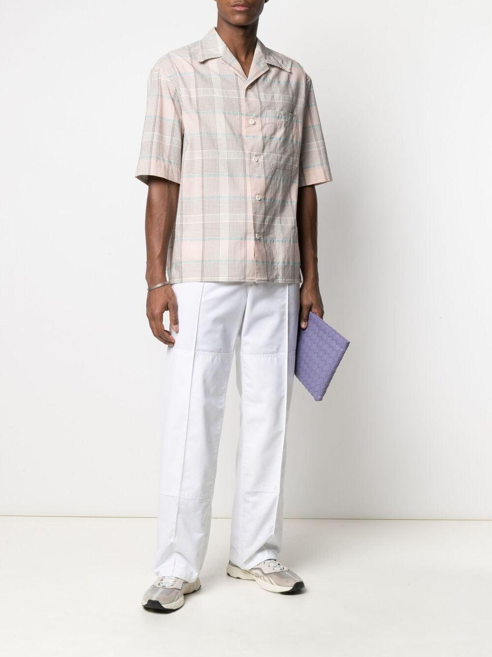 Lemaire camicia con stampa check uomo rosa LEMAIRE | Camicie | M 211 SH160 LF551126