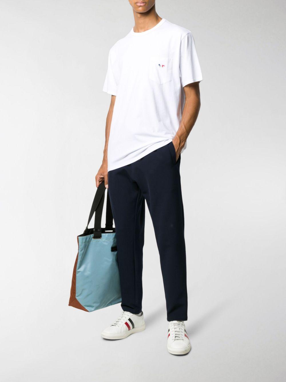 t-shirt con taschino uomo bianca in cotone MAISON KITSUNÉ | T-shirt | FM00120KJ0010WH