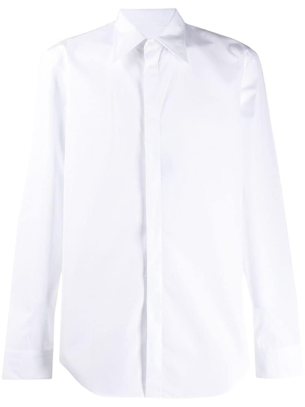 concealed fastening shirt man white in cotton MAISON MARGIELA | Shirts | S50DL0435 S43001100