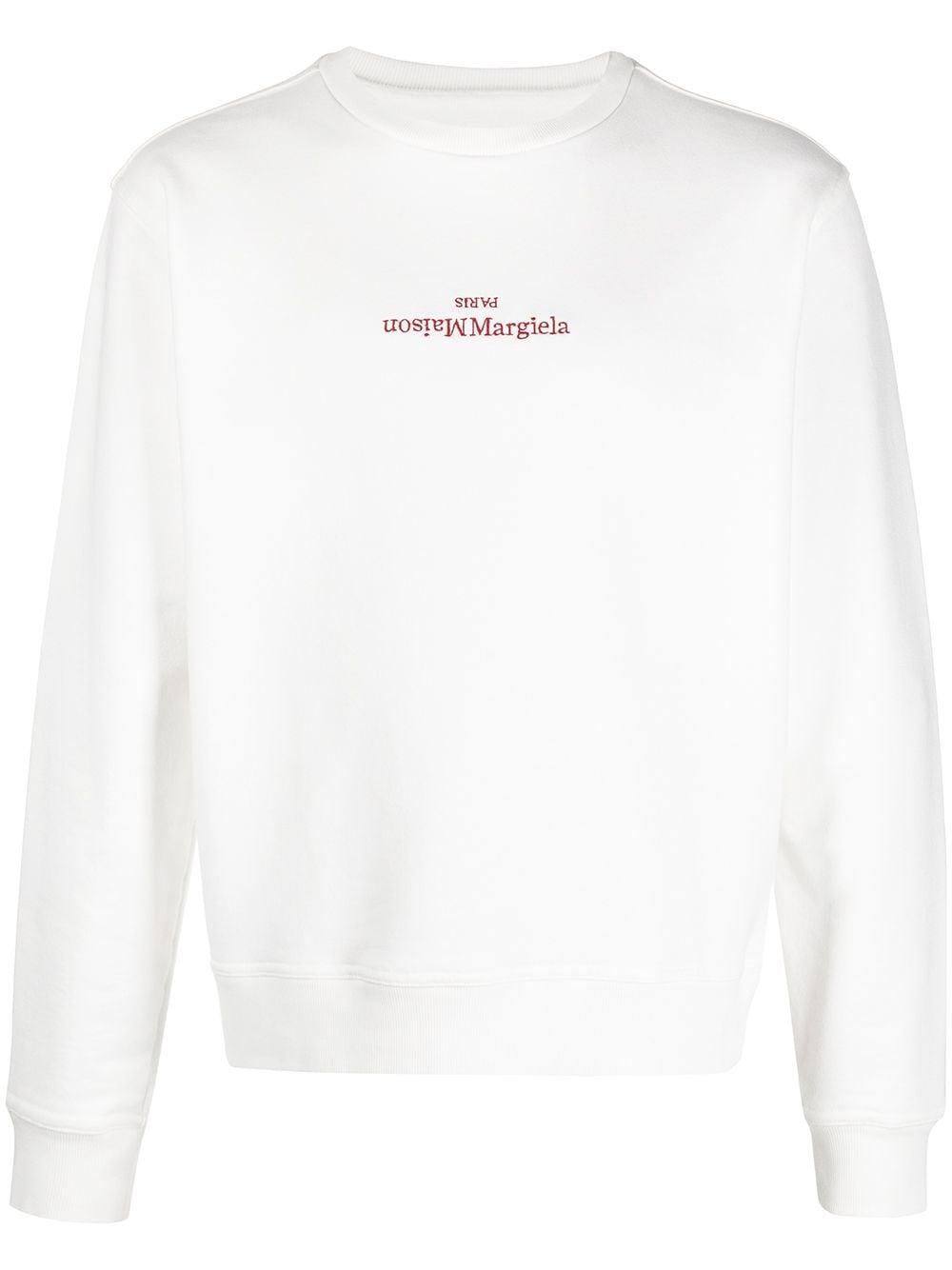 Felpa A Girocollo Con Logo Uomo MAISON MARGIELA | Felpe | S50GU0166 S25503101