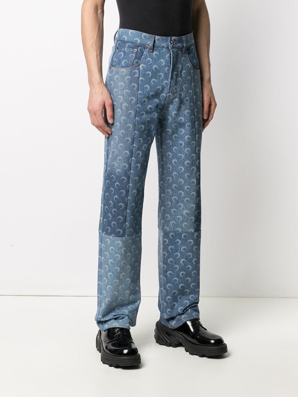 MOON DENIM TROUSERS MARINE SERRE | Trousers | P021ICONM-DENCO000406