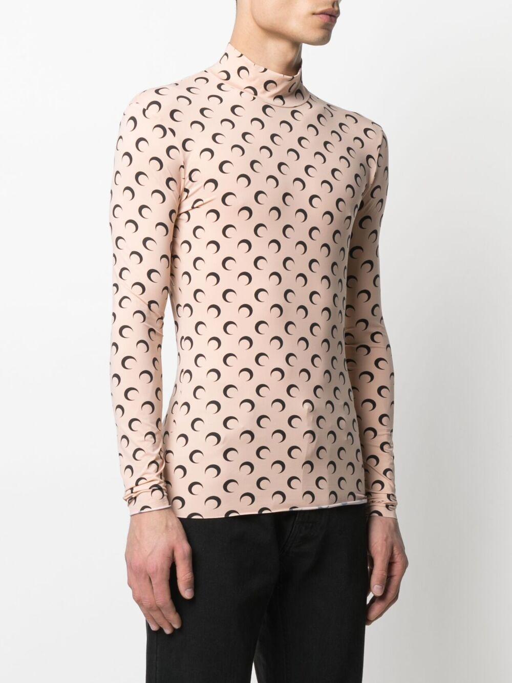 MOON TOP TURTLENECK MARINE SERRE | T-shirts | T088ICONM-JERPA000109