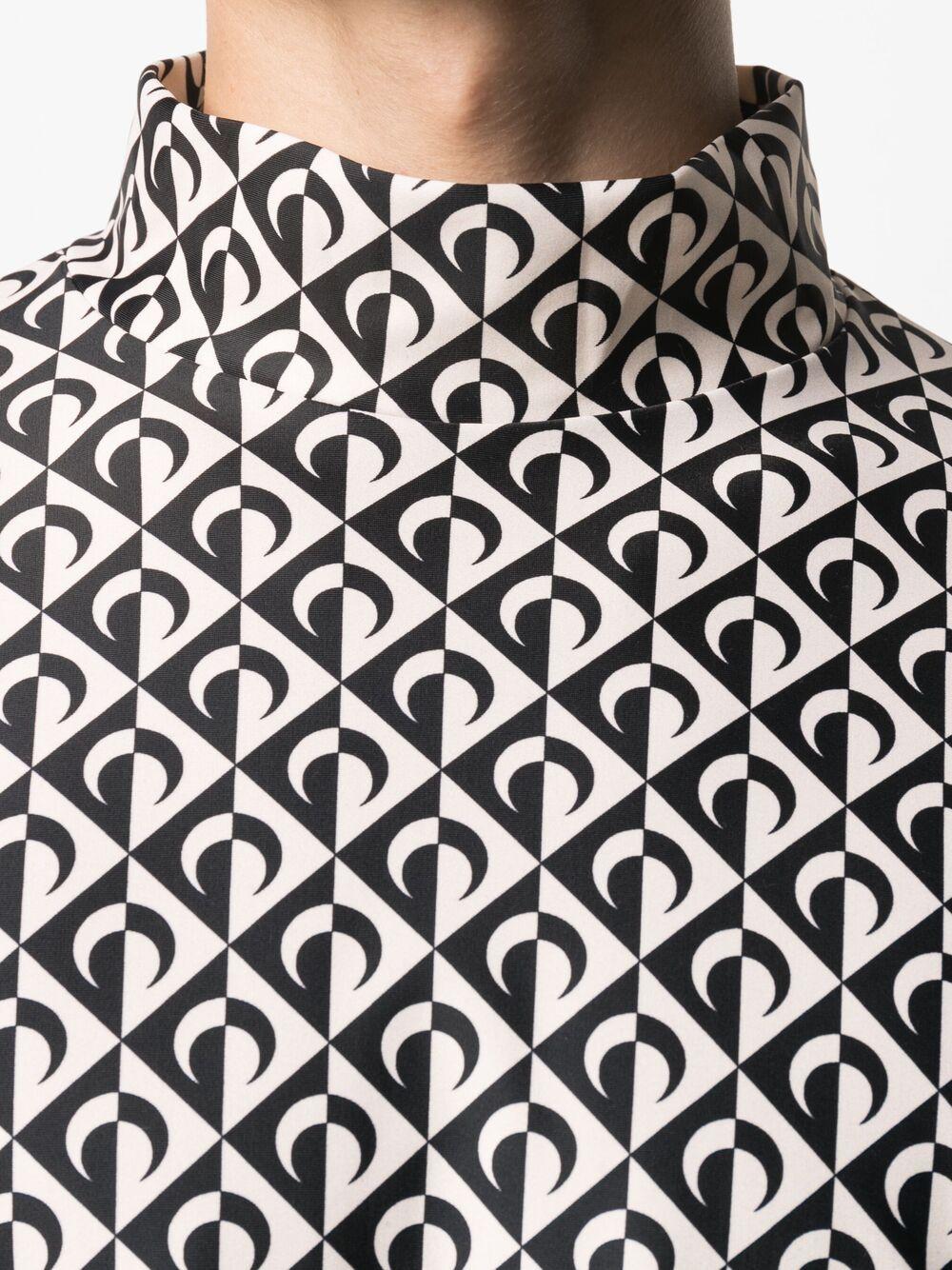 Marine Serre t-shirt a maniche lunghe con stampa uomo MARINE SERRE | T-shirt | T088SS21M-JERPA002000